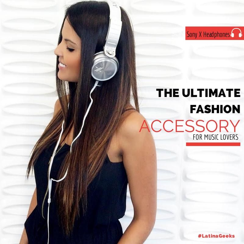 Angeliz Guevara and her favorite accessory... The Sony X Headphones