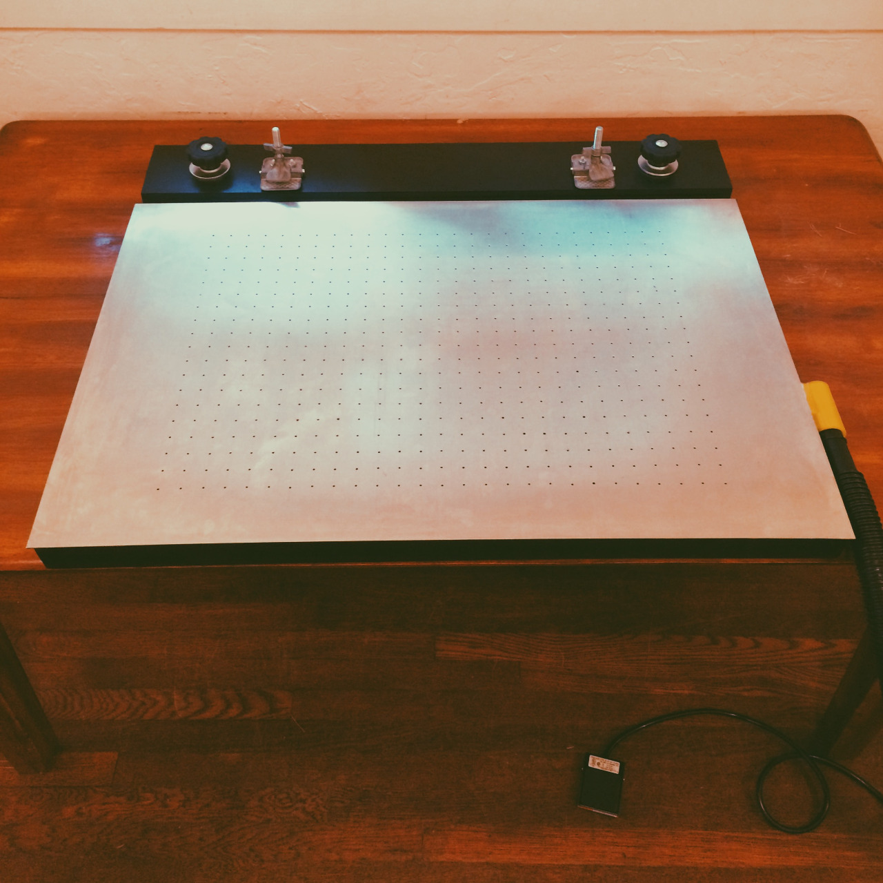 My new homemade screen printing vacuum table.