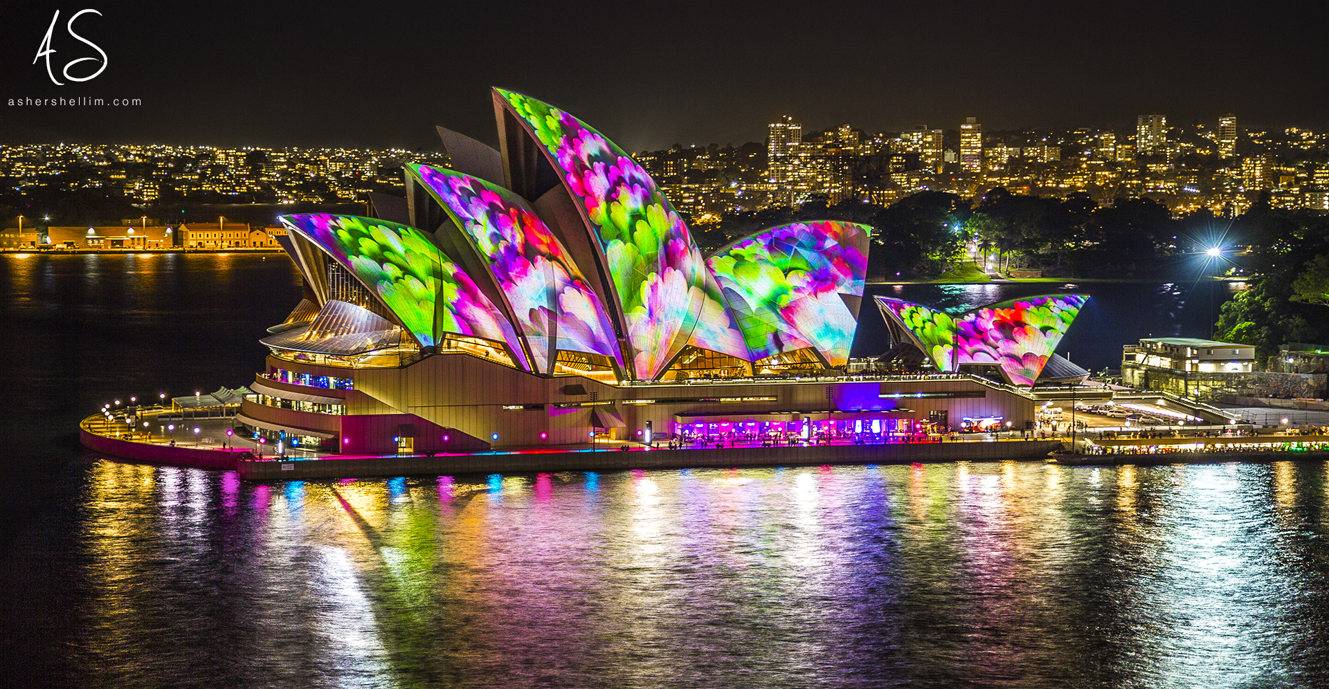 ' Flower Opera House ', Vivid 2014 at the Sydney Opera House