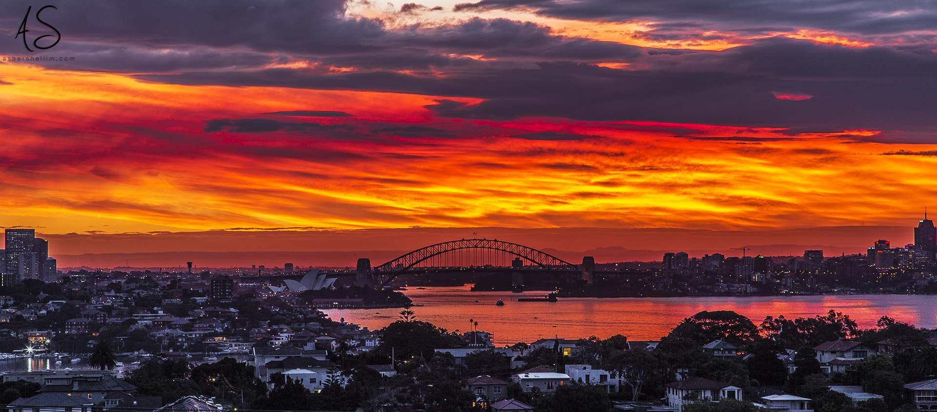 ' Blanket of Fire '  Sydney 5:15 Pm, 20 May 2014