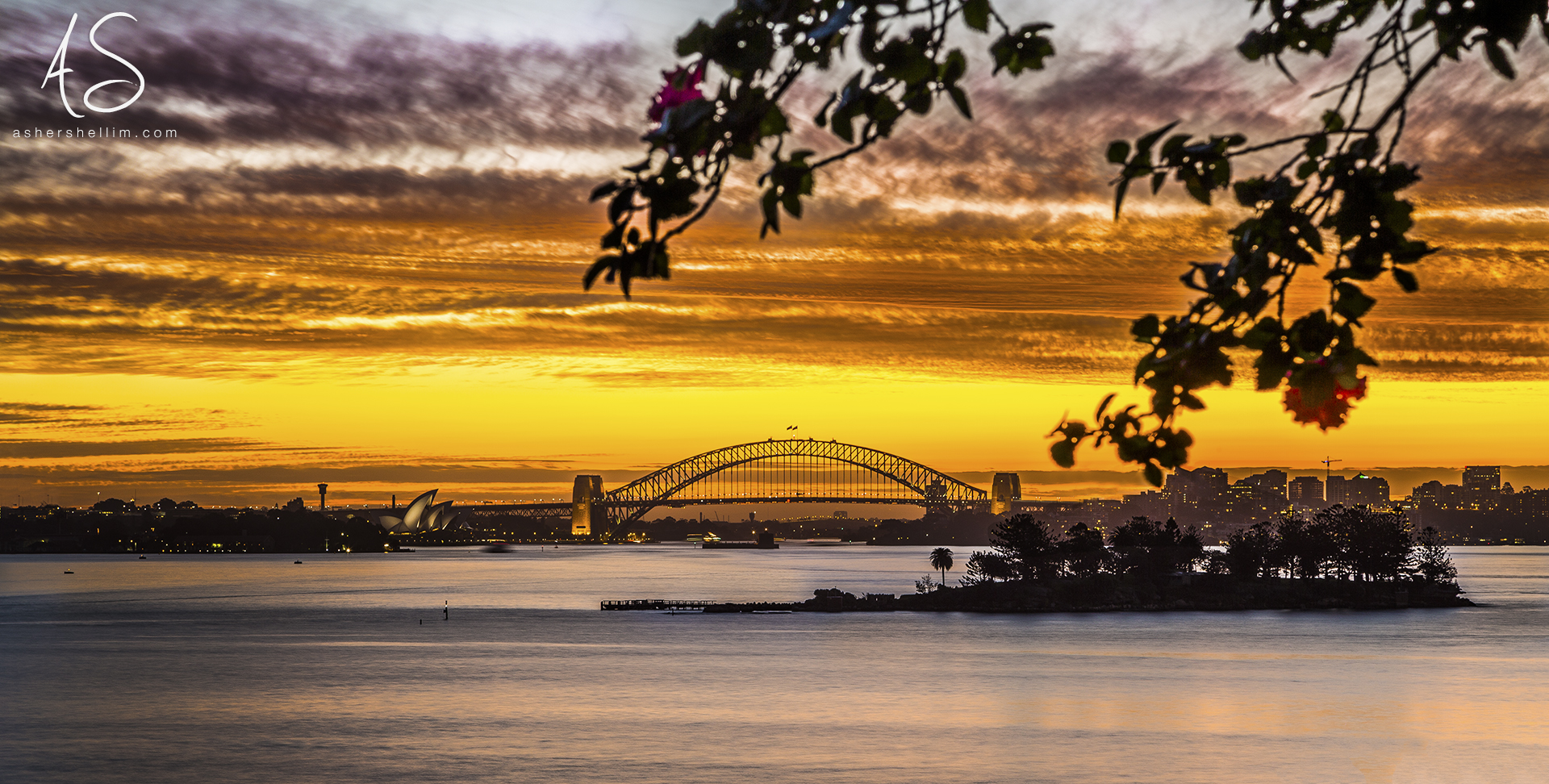 'Still'  Sydney Harbour sitting still following a glorious sunset.