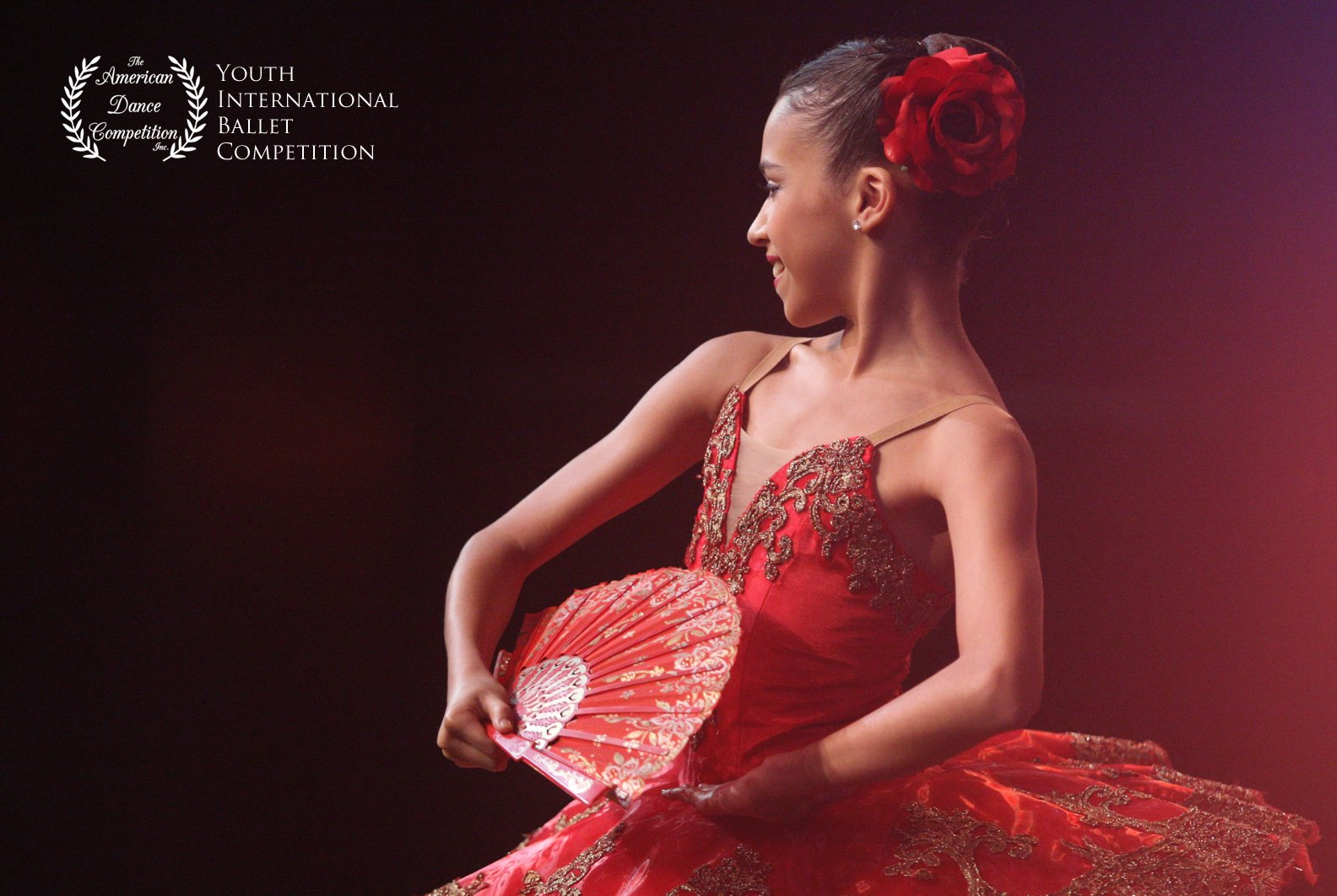 Ballet East Student Nicole Alfaro performing Kitri from Don Quixote at American Dance Competition.