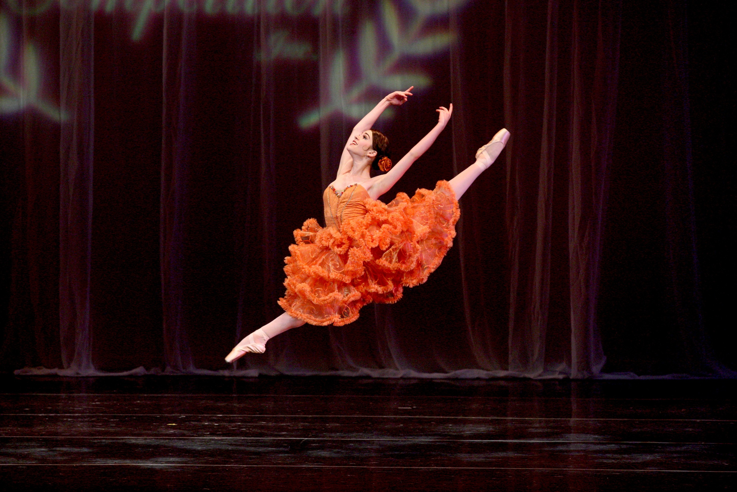 BE Student Madison Russo Performing Kitri from Don Quixote at American Dance Competition.