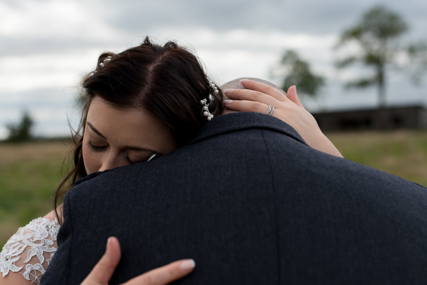 Documentary Wedding Photography 003 intimate bride and groom embrace