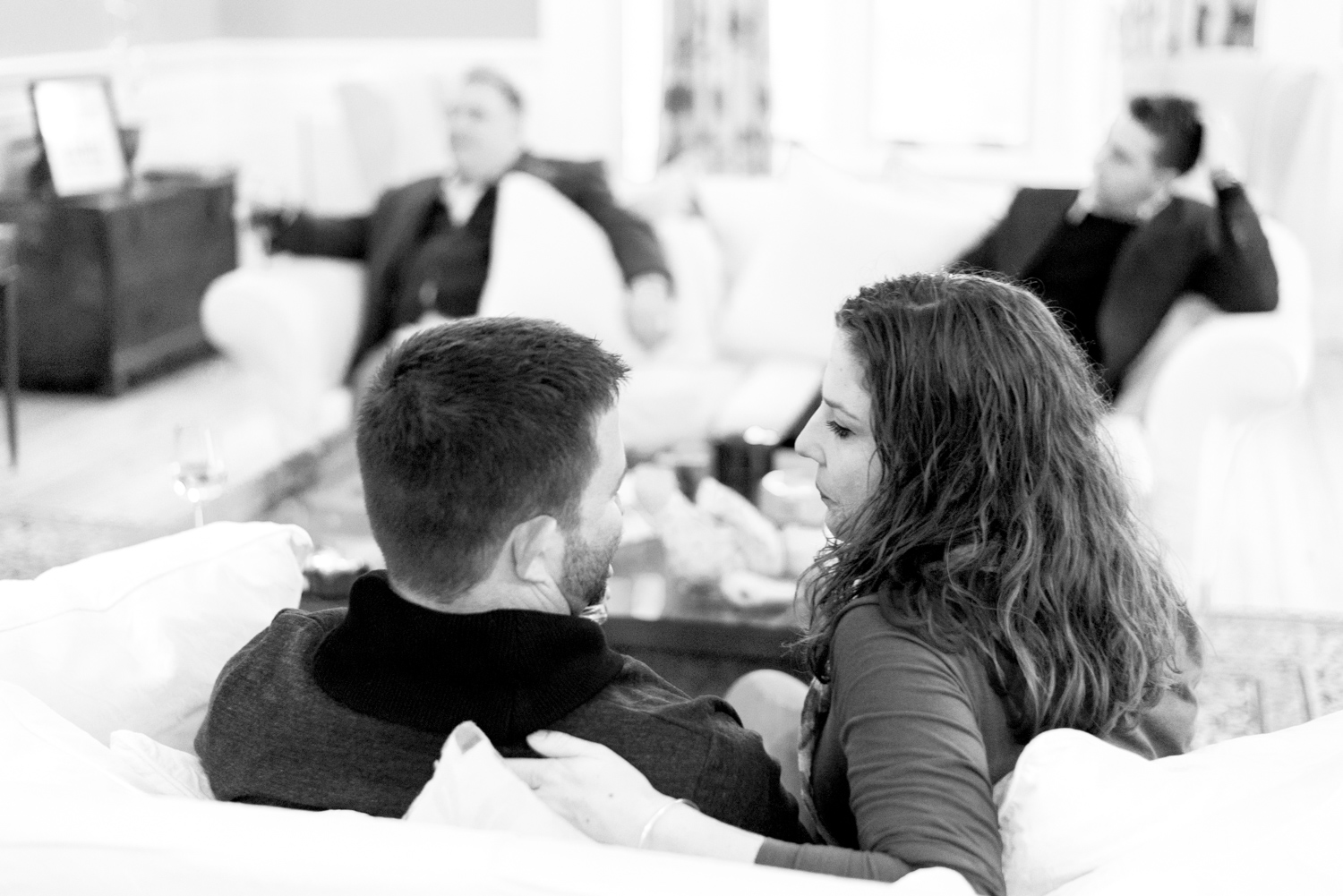 Family Photo Shoot In Dunfermline - couple on sofa at Balmule house 03