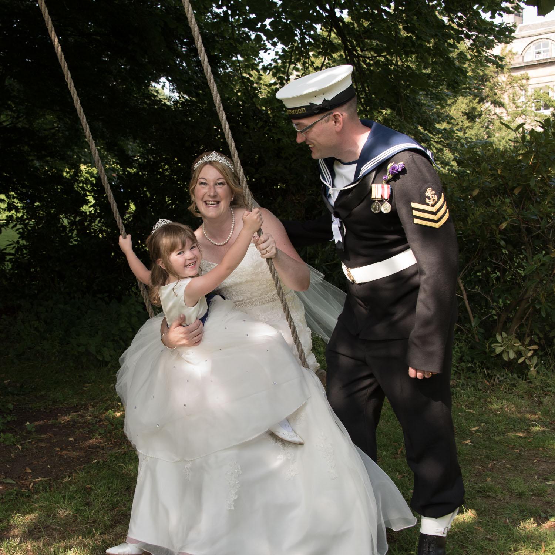 Weddings At Balbirnie House - the secret swing