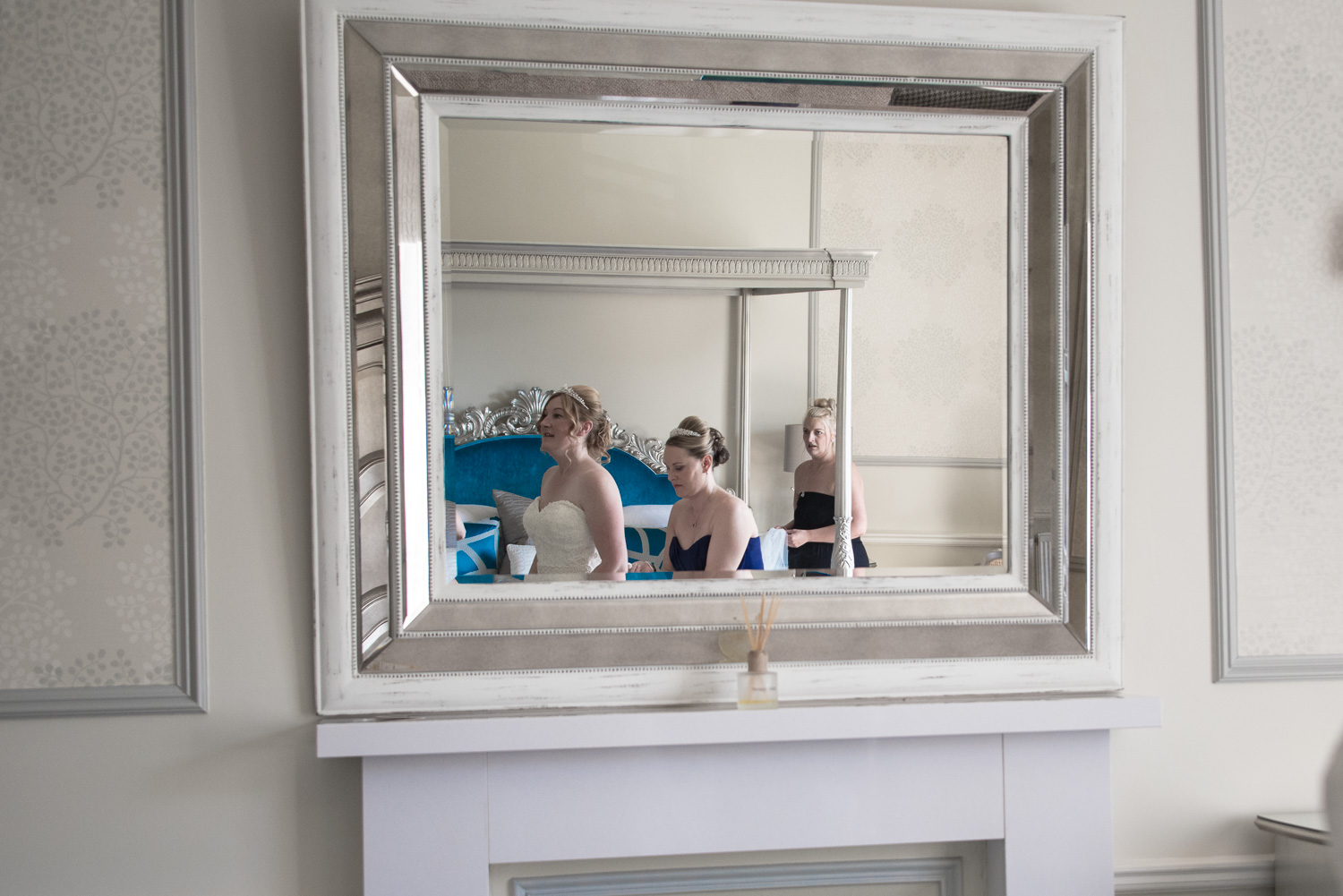Weddings At Balbirnie House - getting in the dress 02