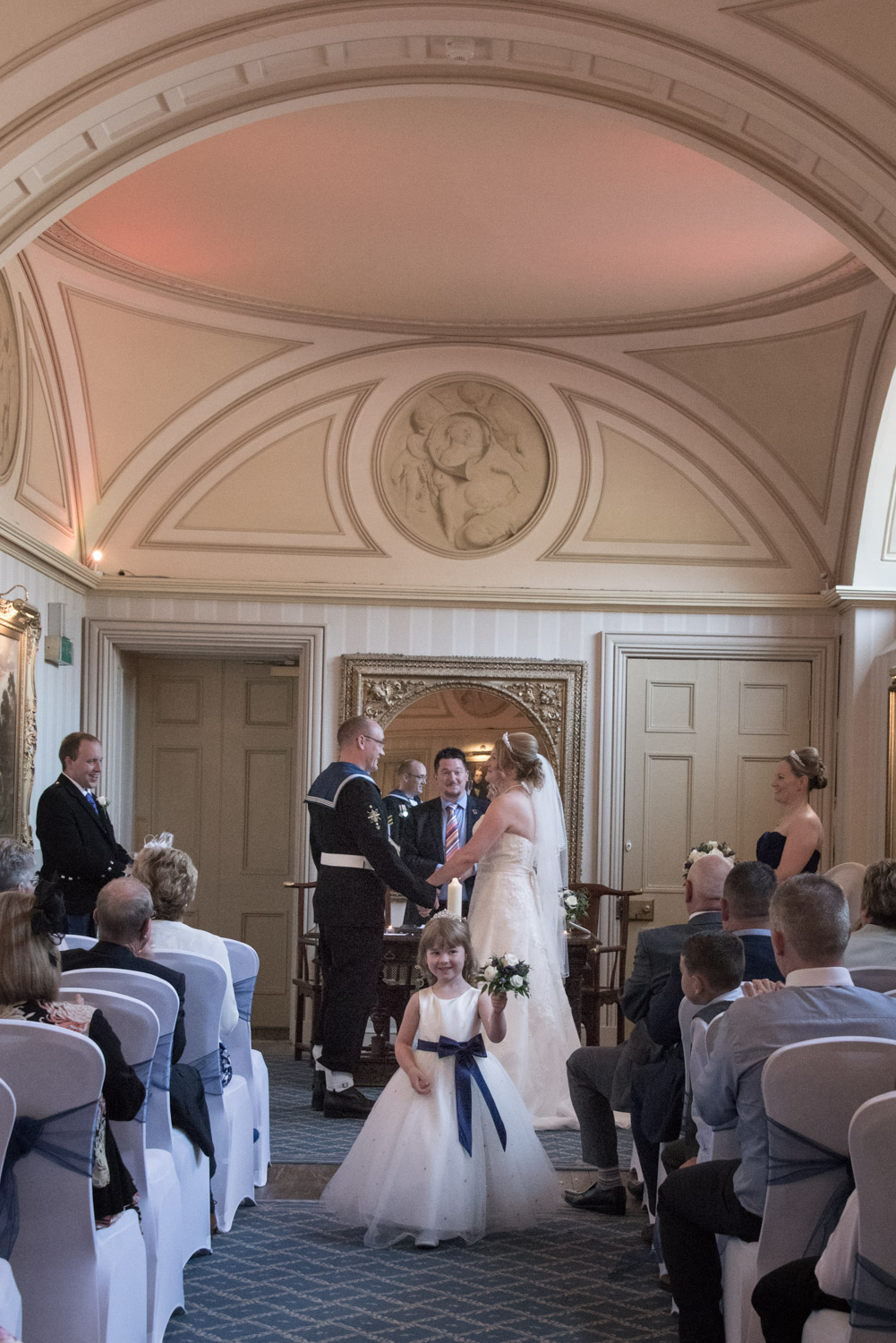Weddings At Balbirnie House - ceremony in the long gallery