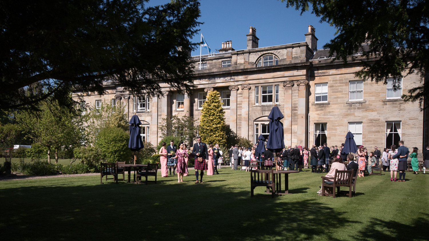 Weddings At Balbirnie House - drinks on the lawn