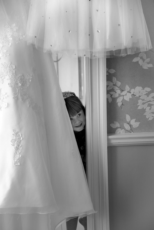Weddings At Balbirnie House - daughter with wedding dress