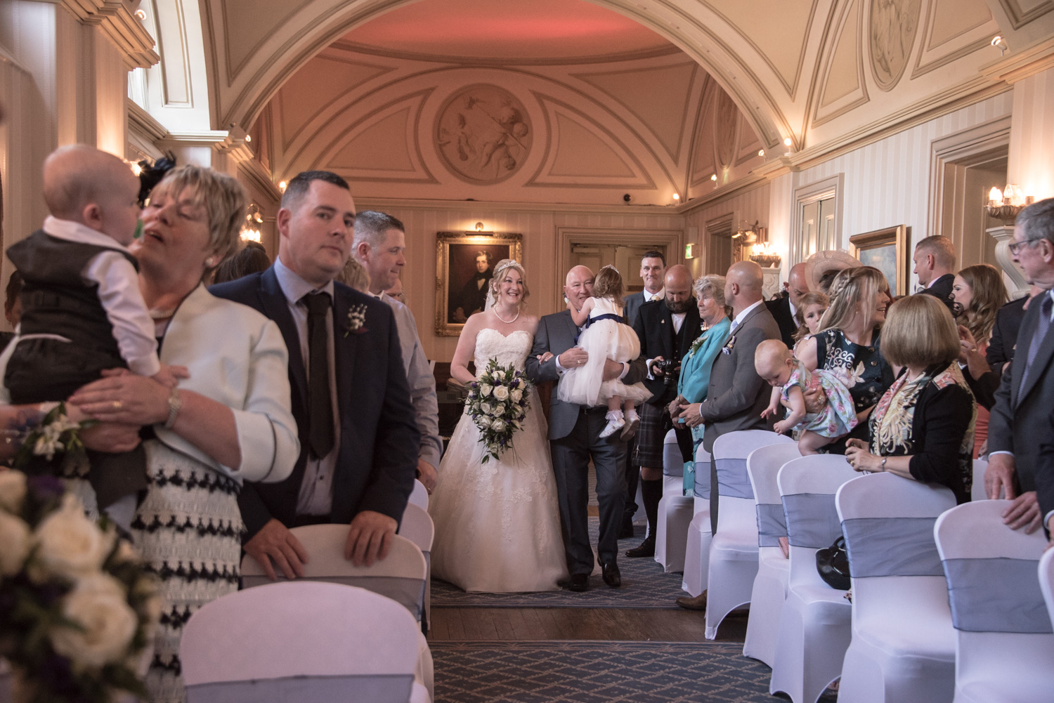 Weddings At Balbirnie House - the aisle in the long gallery