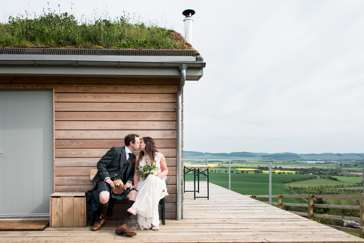 Documentary Wedding Photographer Edinburgh - Guardswall Farm Cabin
