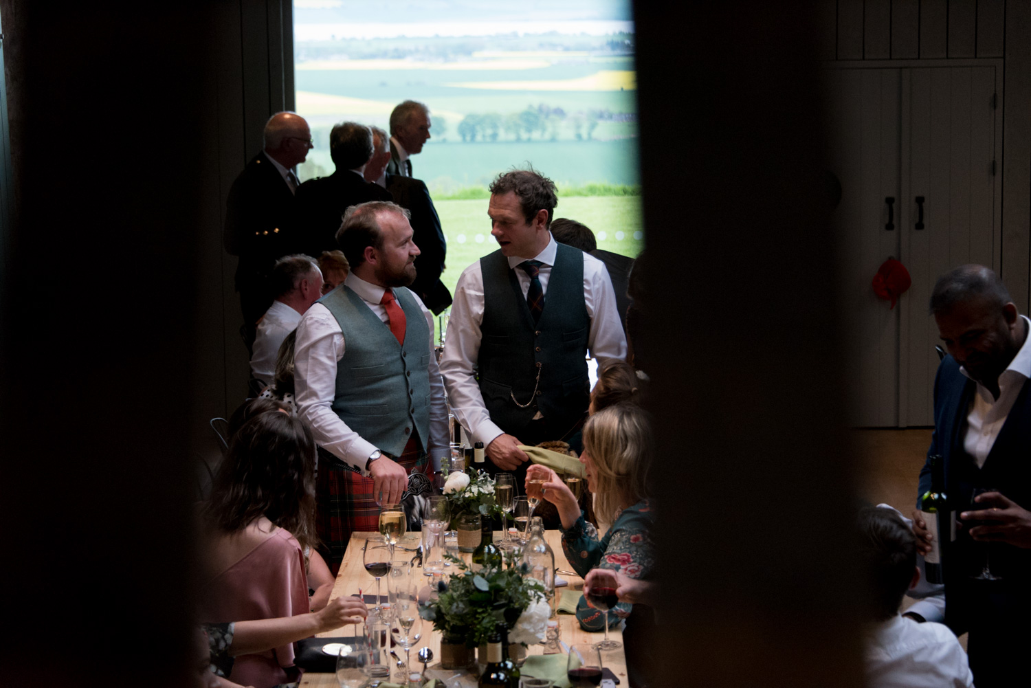 Guardswell Farm - wedding reception in the Cattle Court