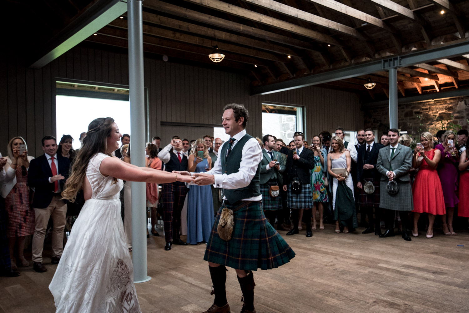 Guardswell Farm - first dance in the Cattle Court 05