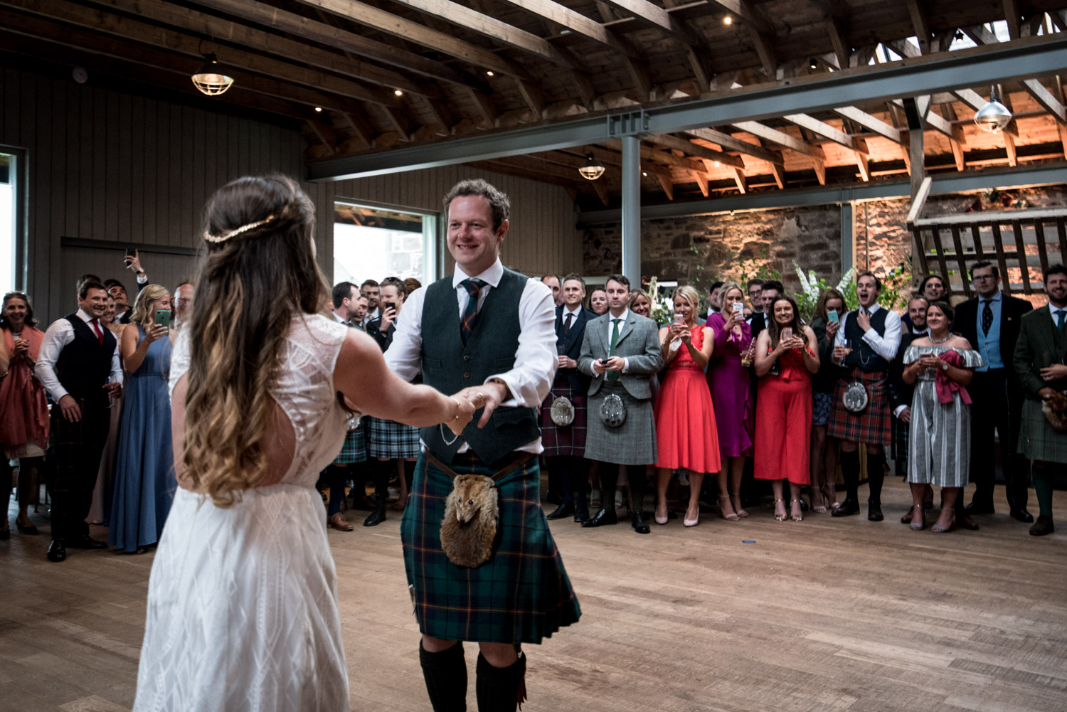 Guardswell Farm - first dance in the Cattle Court 03