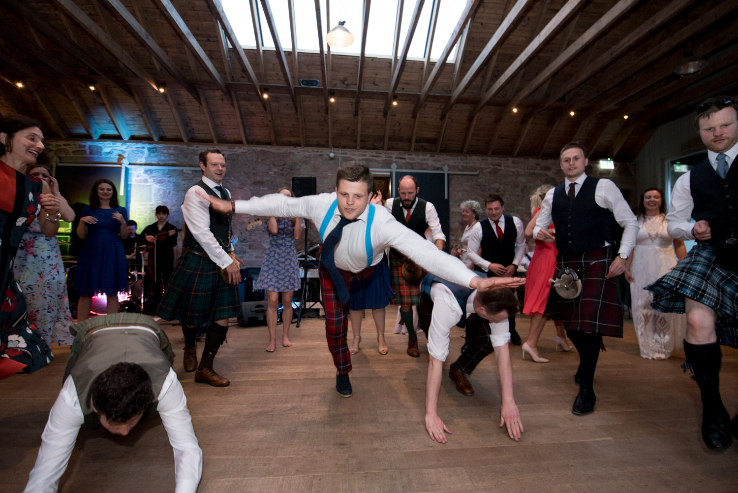 Guardswell Farm - ceilidh in the Cattle Court 07