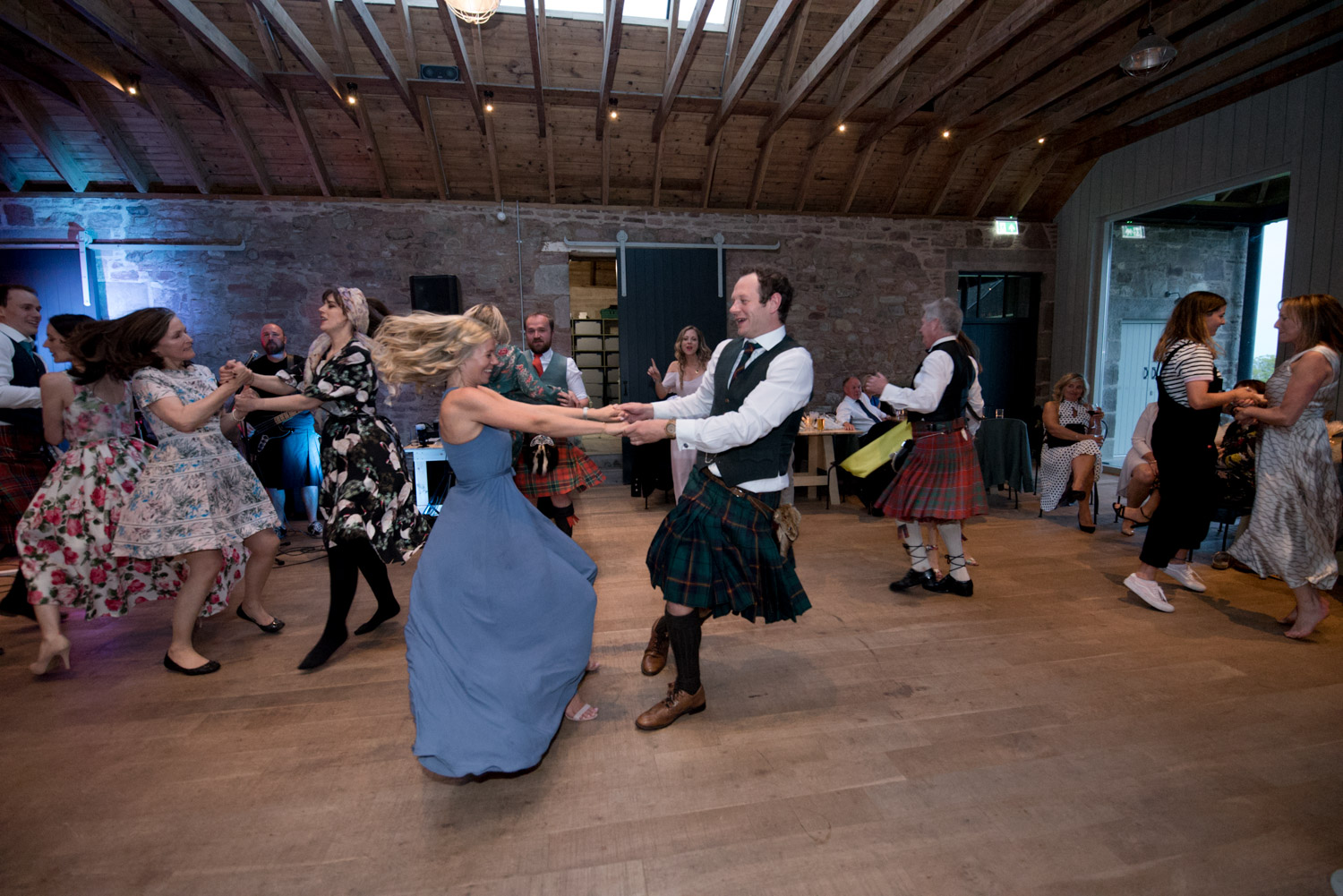 Guardswell Farm - ceilidh in the Cattle Court 04