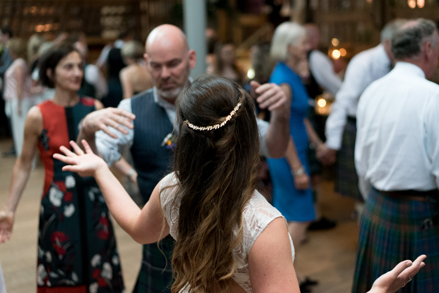 Guardswell Farm - ceilidh in the Cattle Court 03