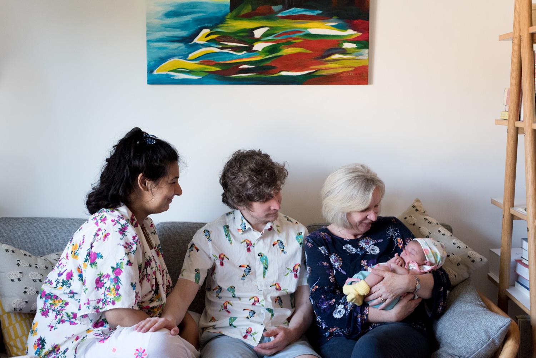 Newborn Photo Shoot - family photos 3 generations