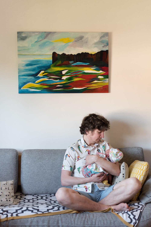 Newborn Photo Shoot - daddy