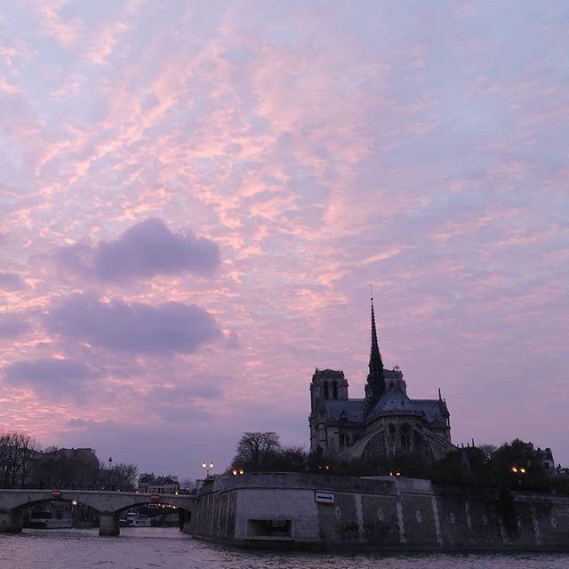 Mon cœur est brisé. 😭 Je partage cette photo prise depuis la Seine le 26 mars 2017 à 20h14. #notredamedeparis  #prions