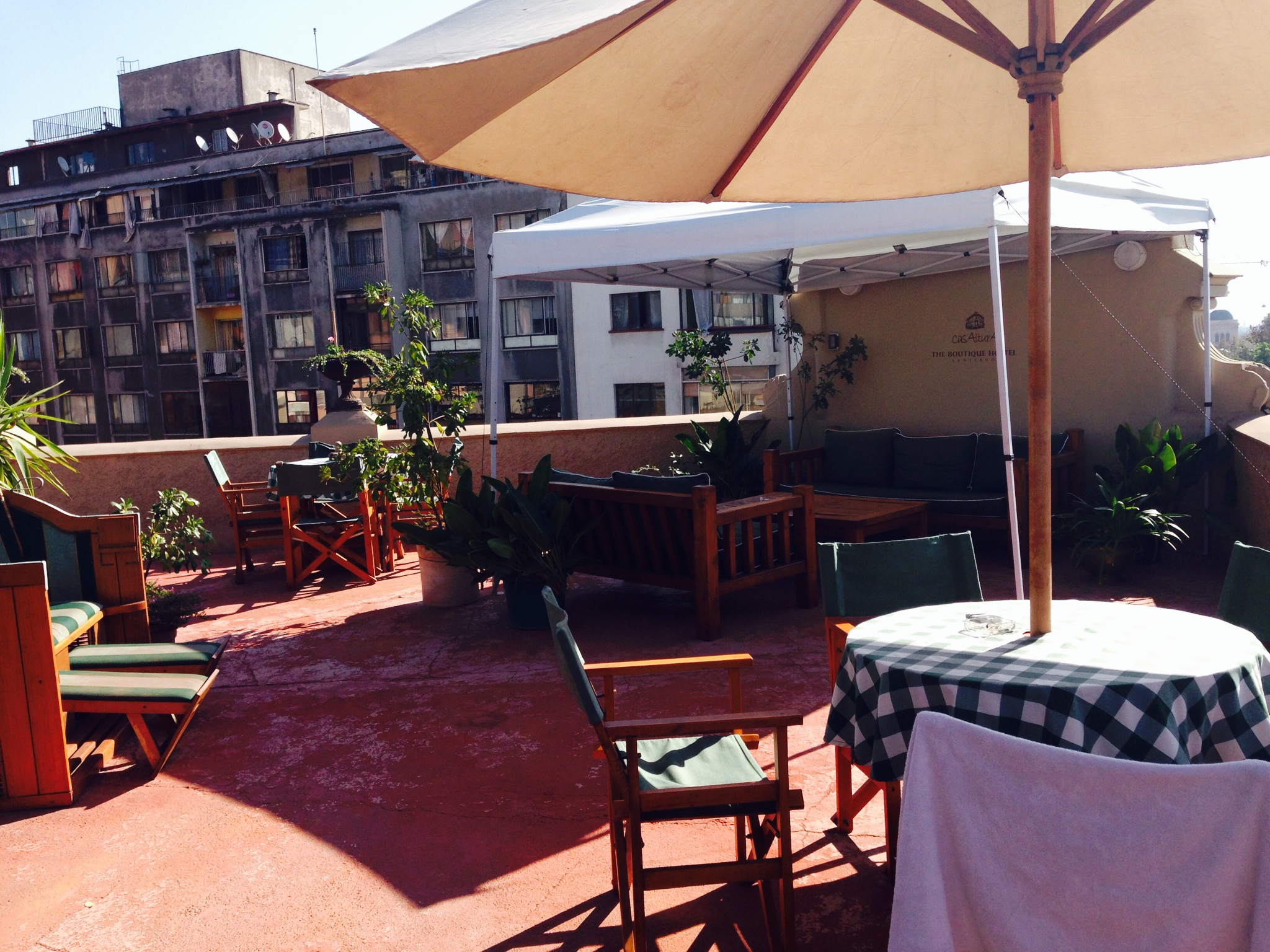 The rooftop terrace at CasAltura