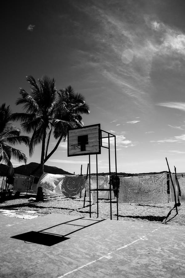Beach Basketball.