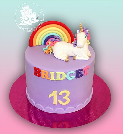 Beautiful unicorn cake from Art you can eat