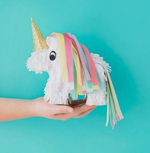 A cute unicorn piñata from pinterest