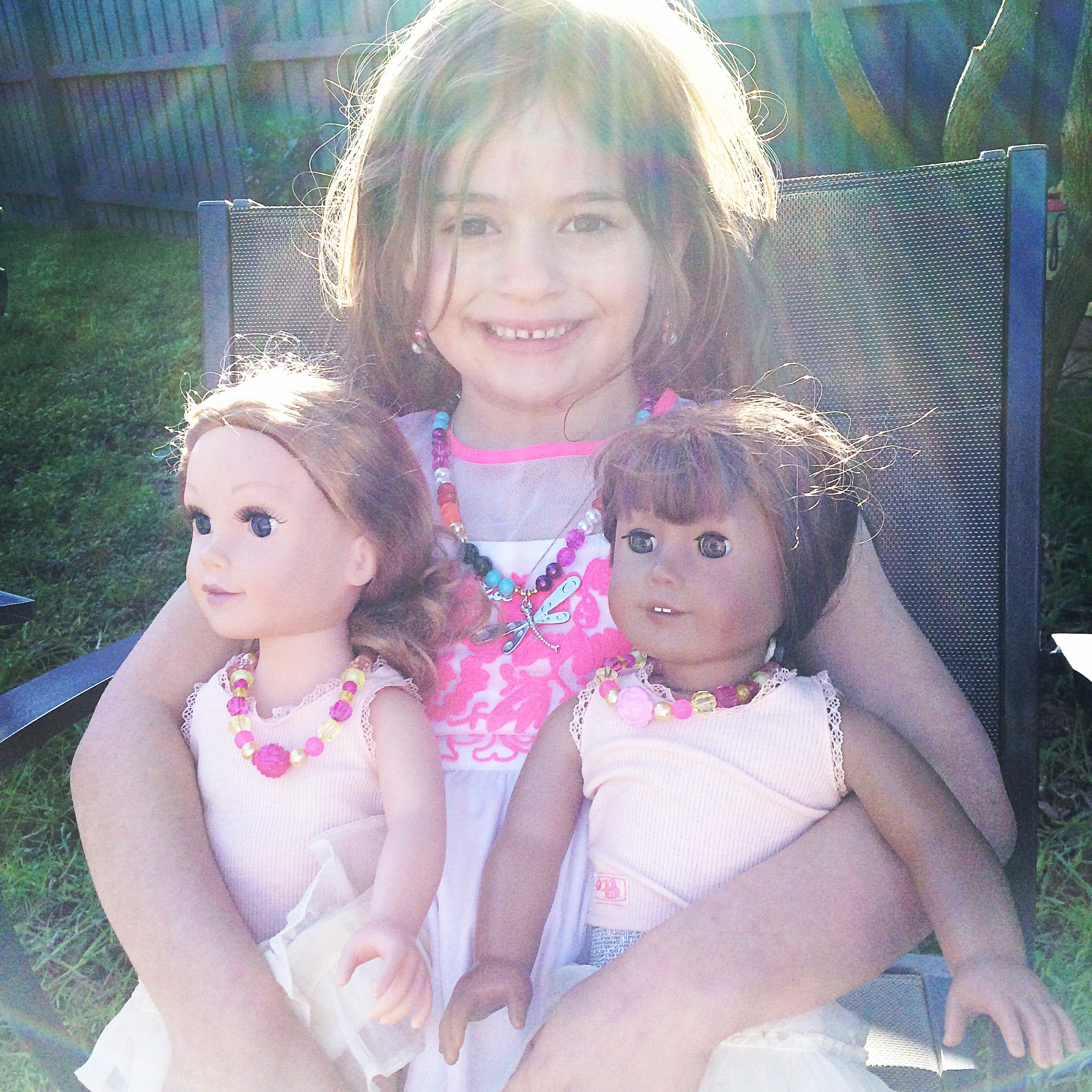 New party: a girl and her doll