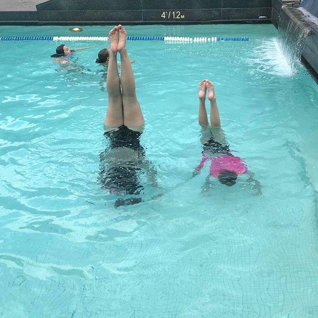 Aqua handstand practice in Montreal! #cheerfamily @eliteallstarcheer