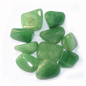 "AVENTURINE:   Usually green colored in nature, Aventurine is known as the ""Stone of Opportunity"" and thought to be one of the 'luckiest' of all crystals. It is a wonderful stone for manifesting wealth and prosperity and assisting us during times of huge transition in our lives. Aventurine facilitates releasing old patterns and ideas to create the opportunity for new growth to take place. Green Aventurine carries a strong link to the Earth and can ward off geopathic stress or unwanted negative polluted energy. Aventurine also encourages love in later life, and opens up the heart chakra. A time of incredible transition paved the way for us to begin the journey of making POUND jewelry together, and thus, we LOVE aventurine."
