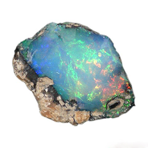 "OPAL:   The word opal is derived from the Sanskrit word ""upala"" meaning ""valuable stone."" In ancient times, the Greeks thought opal to be the ""tears of Zeus"" and prized it as valuable as diamonds. Once opal began to rival diamonds, the people in the diamond mining business made up a myth that the opal was a carrier of bad luck to make sure the diamond reigned supreme. However, throughout history, the opal has actually been seen as a sign of ""good luck"" and is a very precious stone with many various forms and types. 95% of today's precious opals are mined out of Australia. To us, the opal is eternal and will always be a glamorous yet deeply spiritual stone."