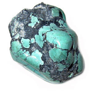 TURQUOISE:  Turquoise is known for its blue-green color and often has veins running through it, adding to this stone's character. It is by far one of the oldest stones known to man and has always been seen as a symbol of strength, protection, and good luck. For almost 1,000 years, the Native Americans have mined and carved this stone as a guardian for their burial sites and many master healers and shamans wear it as a sign of protection and wisdom. During travel, turquoise protects against theft and is even used to adorn animals to prevent them from running away or being stolen. It is often worn to protect against physical harm during horse back riding or in any other laborious form of craftsmanship or services. We love using turquoise because, again, anything that carries with it such historical significance and ancient practices attracts us. It reminds us that though death is inevitable, something within us is eternal and will always be passed on.