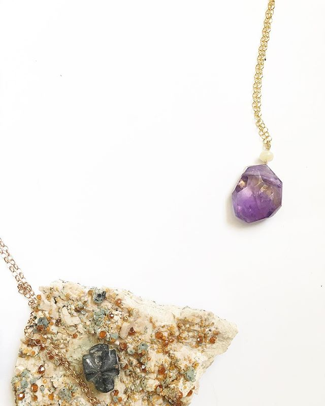 Stones from the desert, one of which forever changed my fear of the cross, and an Ametrine and Opal Talisman that has forever changed my fear of my power. 💎💎💎