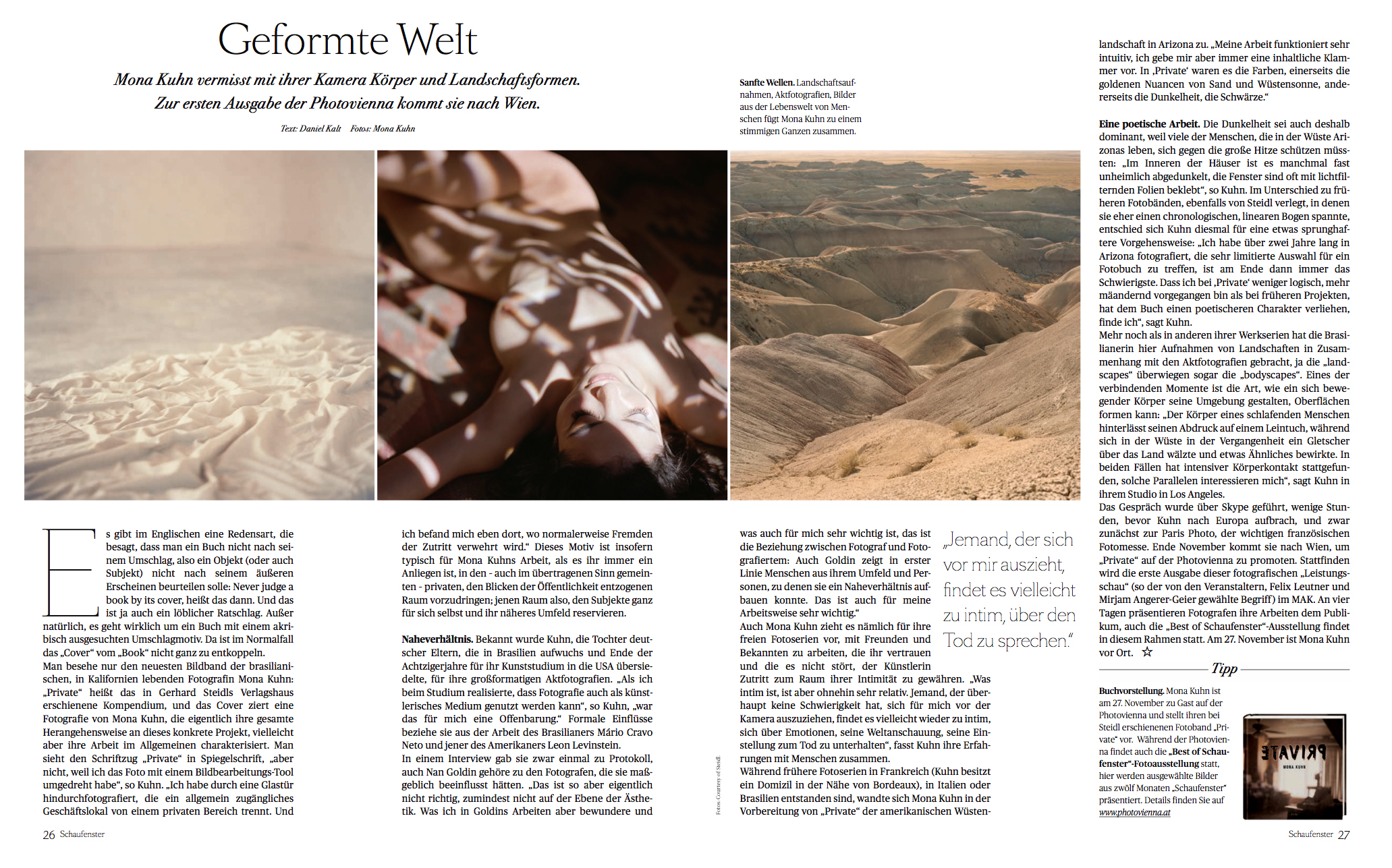 Die Presse Schaufenster // Interview mit Mona Kuhn