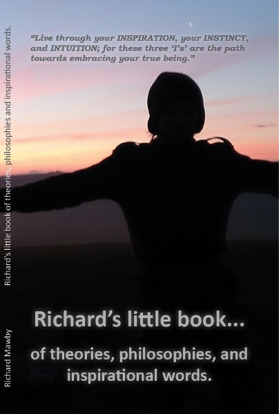 Richard's little book of theories, philosophies and inspirational words; book cover.
