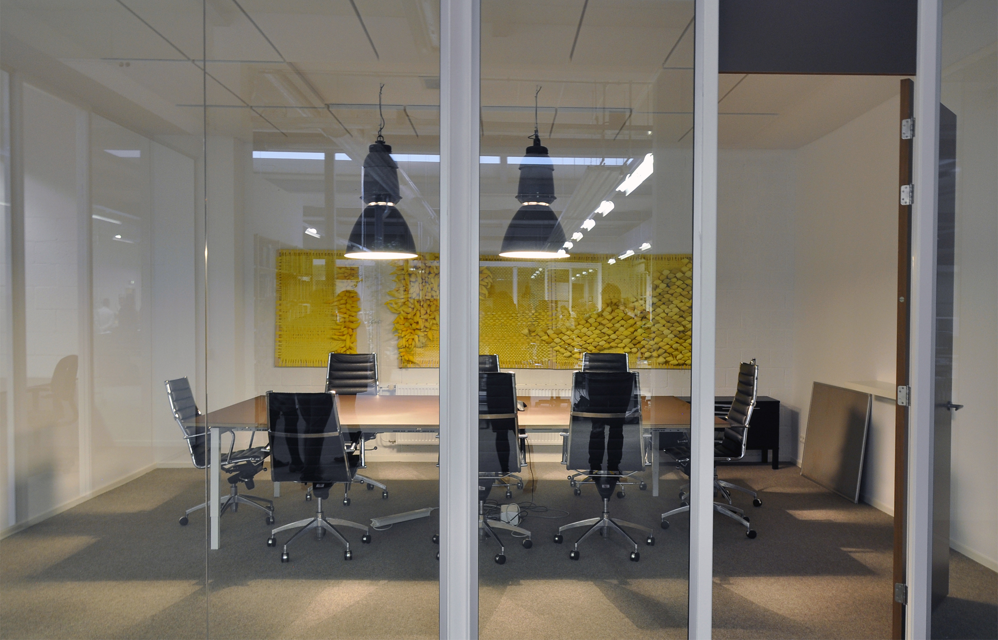 Diptych (yellow), 2015 - in situ