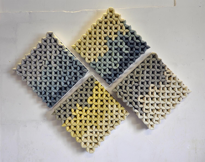 Quadriptych (1000 pillows), 2018