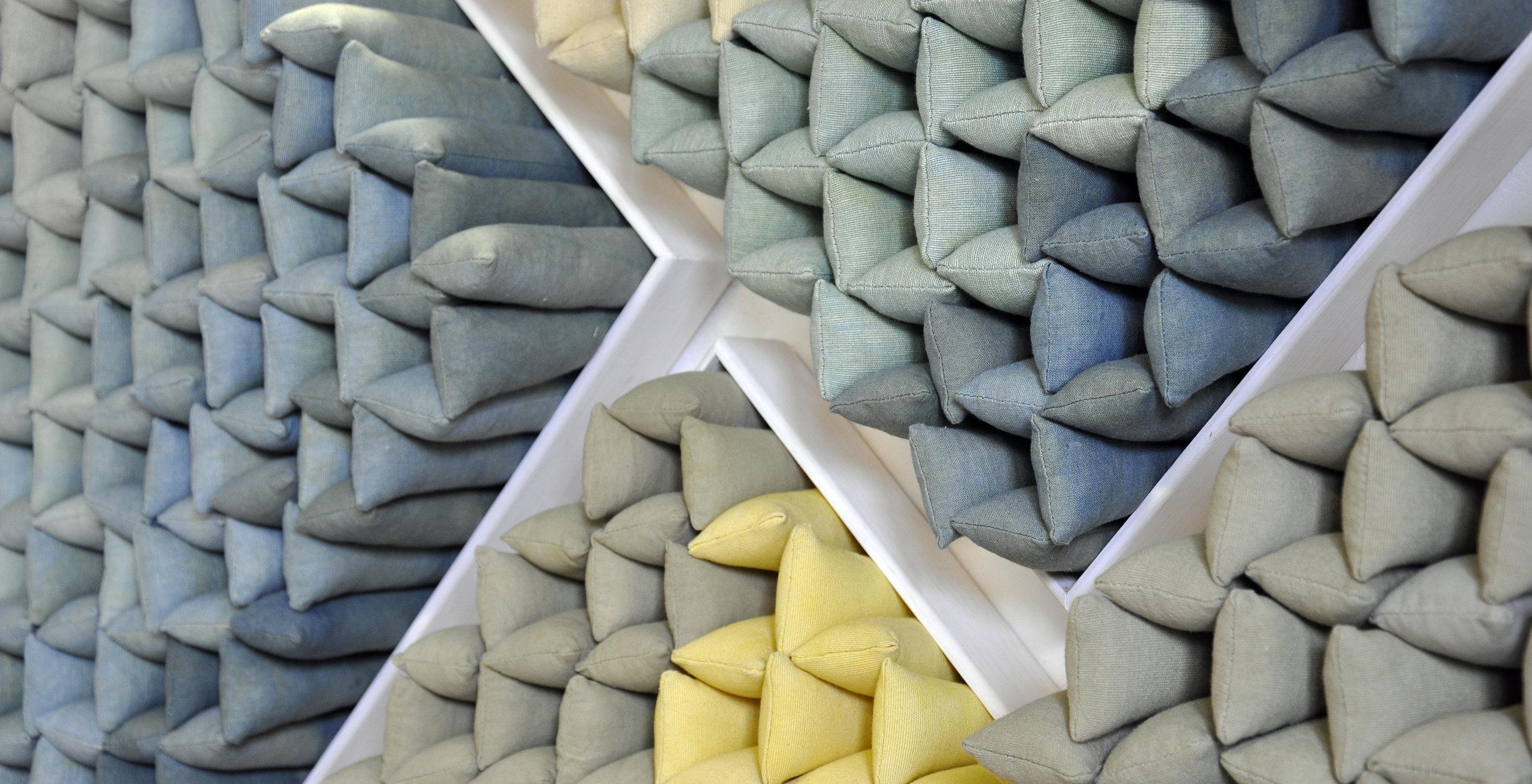Quadriptych (1000 pillows), 2018 - detail
