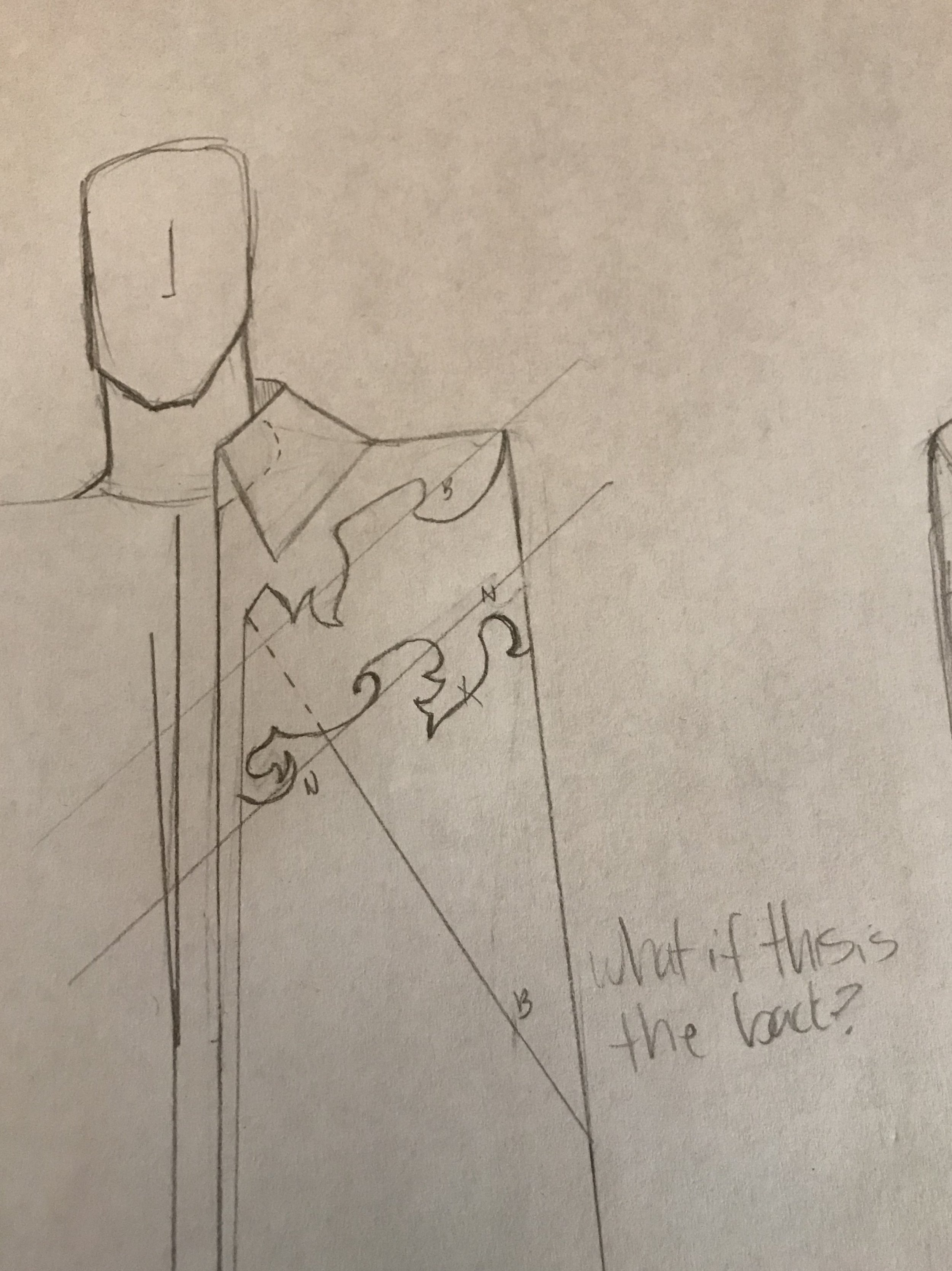 Original Phantom Cape Sketch *Differs slightly from finished product