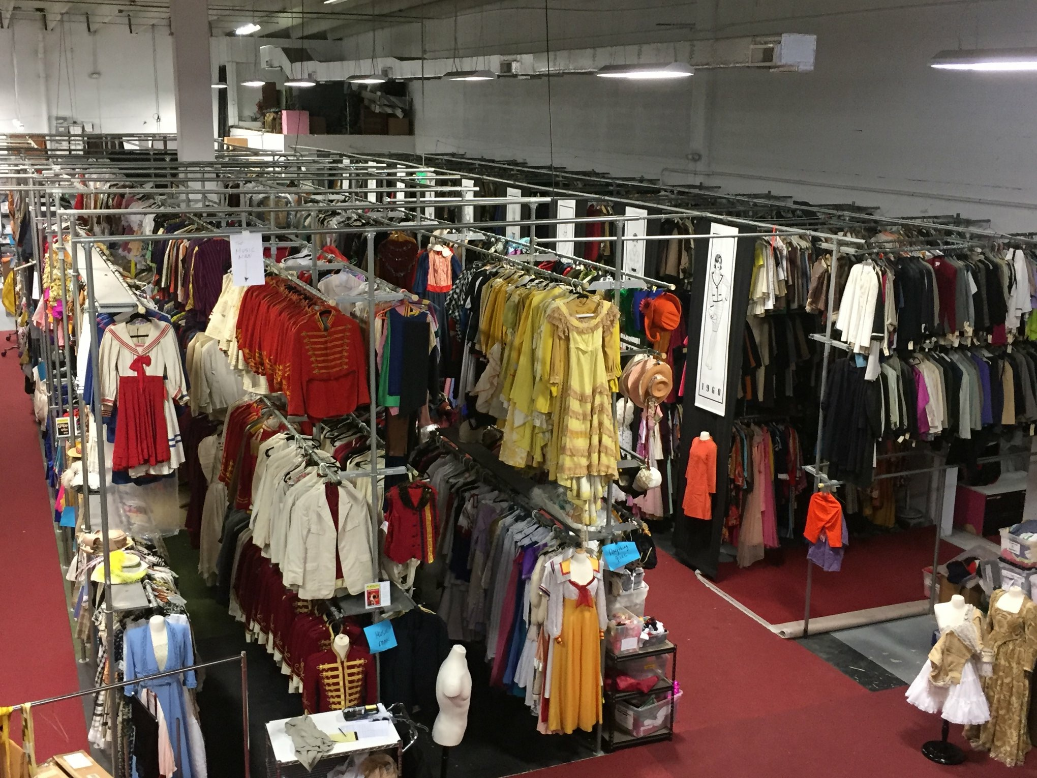 Costume World's Broadway Collection (this is just one quarter of the collection)
