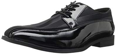 Mens tuxedo shoe by Stacy Adams; notice the fabric striping detail