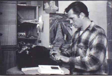 Jack Kerouac at his typewriter