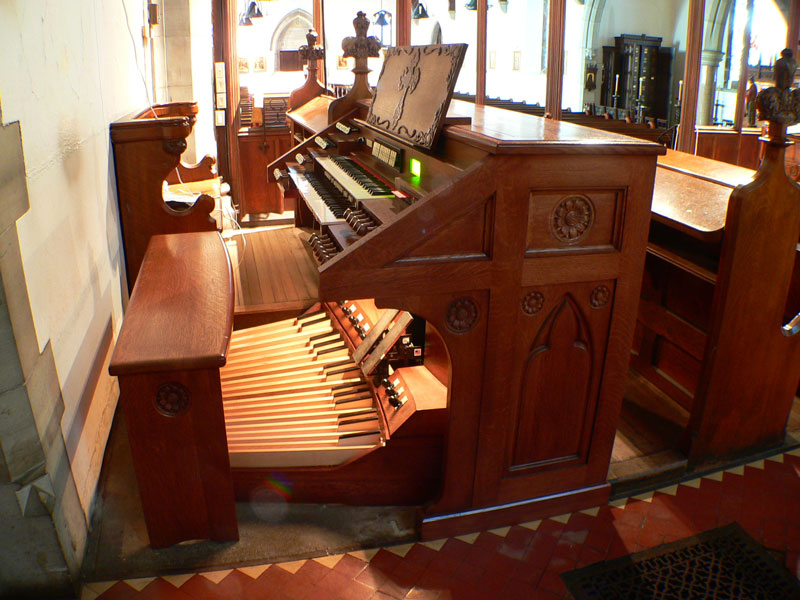 St. John the Evangelist , Newport, Rhode Island    Hook and Hastings  Opus 1611  and  2610  (1894 and 1934) | II/26 | Electropneumatic Key and Stop Action