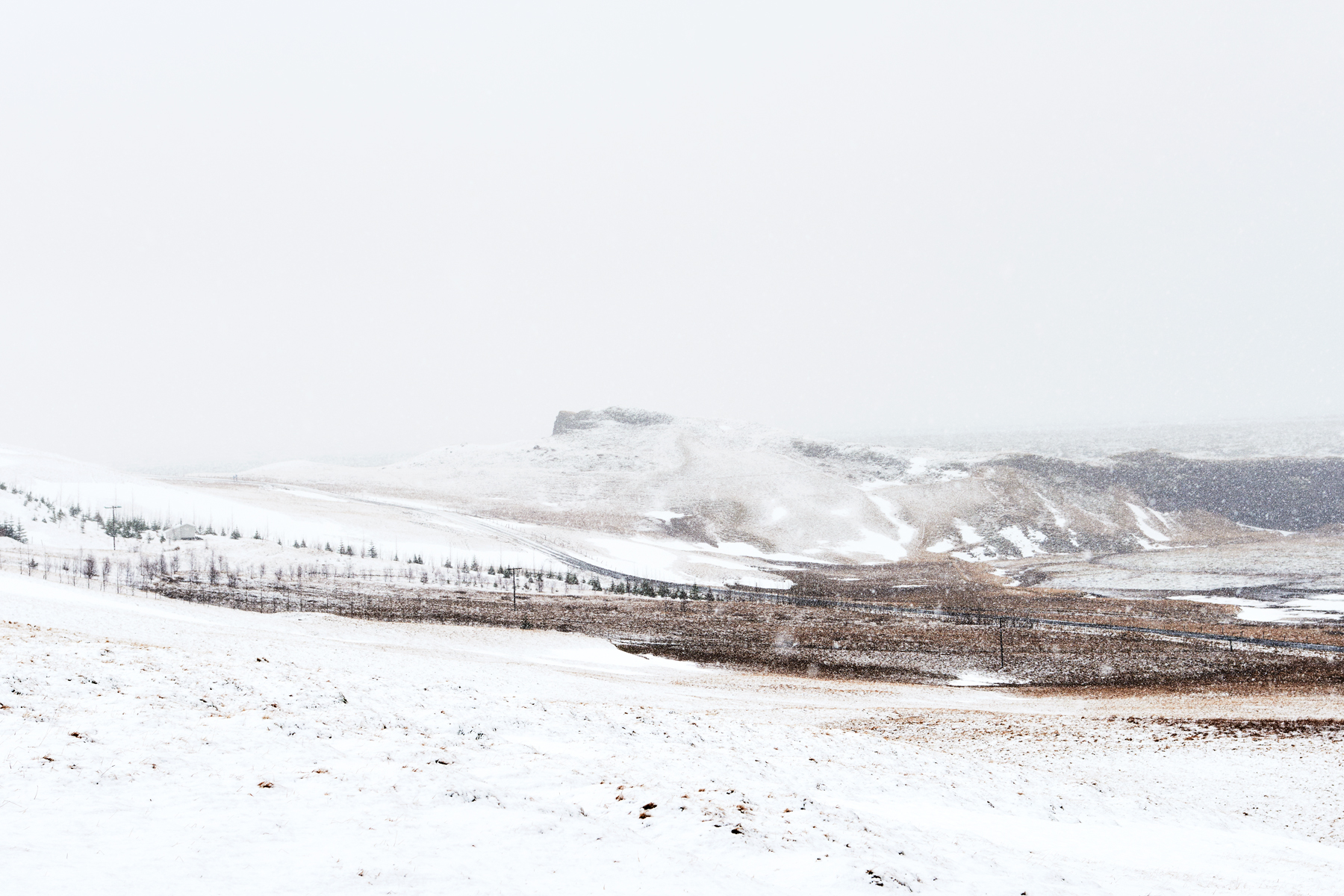 Snow covered landscape in South Iceland. Kirsty Owen Photography.
