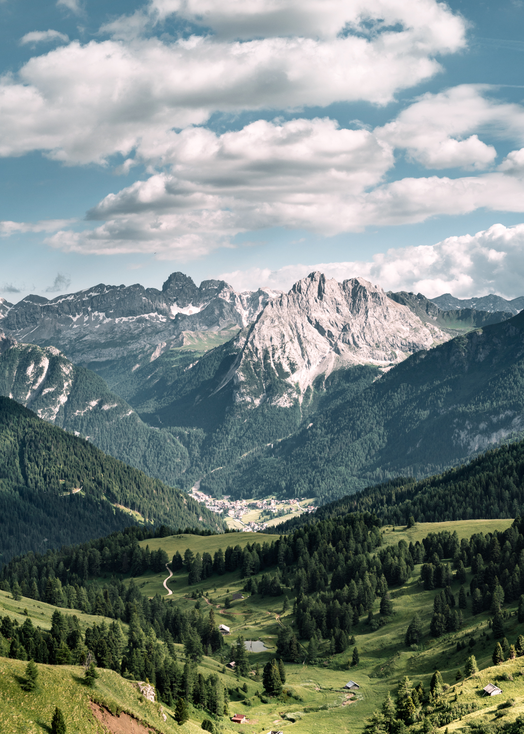 Dolomites mountain and valley landscape - kirsty owen photography