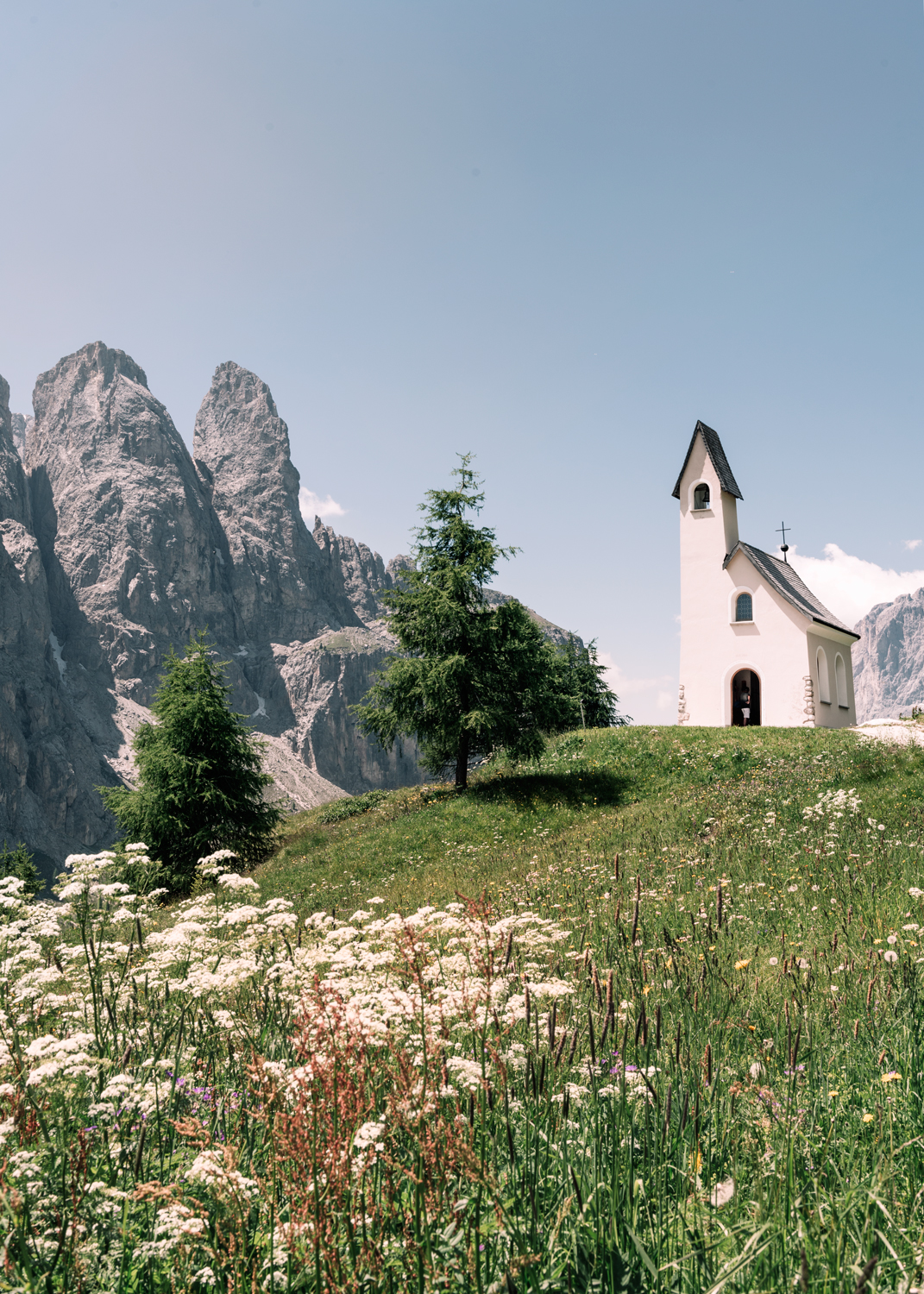 Small chapel in the dolomites Italy - Kirsty Owen photography
