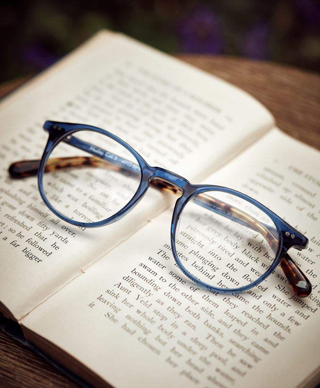 Walter and Herbert reading glasses on book Kirsty Owen photography
