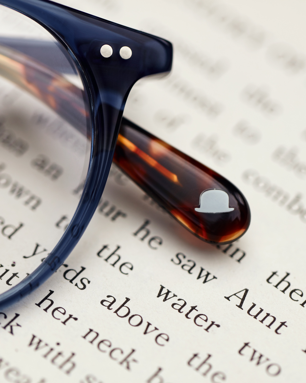 reading glasses detail
